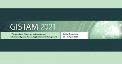 GISTAM 2021 – evento online